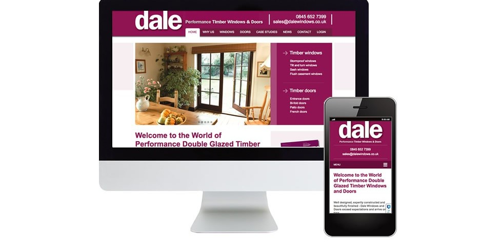 Dale Windows website design and build