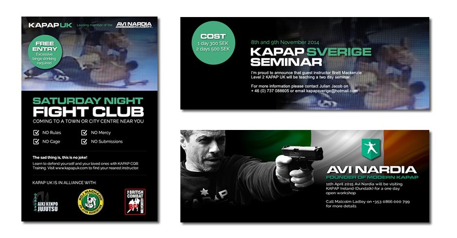 Facebook promotional advertising for the KAPAP brand