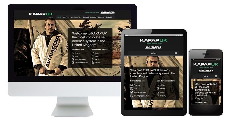 KAPAP UK 2014 website design and Wordpress content management system